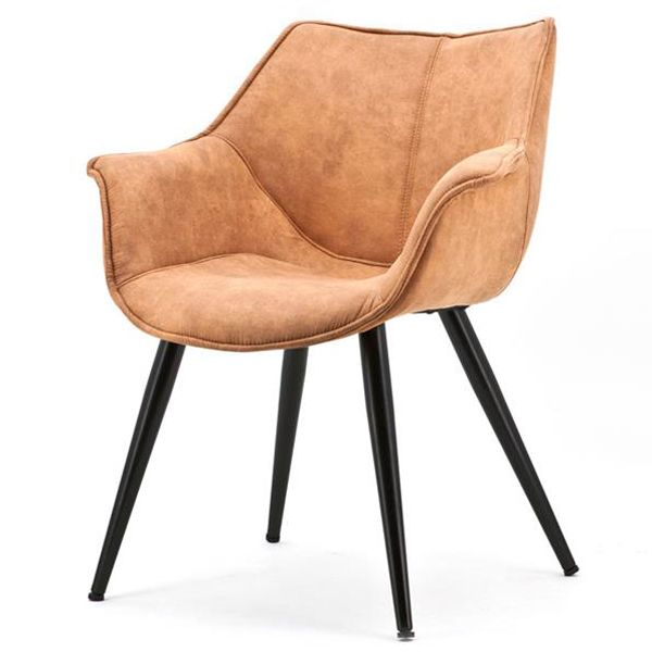 Armlehnstuhl Samuel Cognac Schalenstuhl Stuhl Stühle
