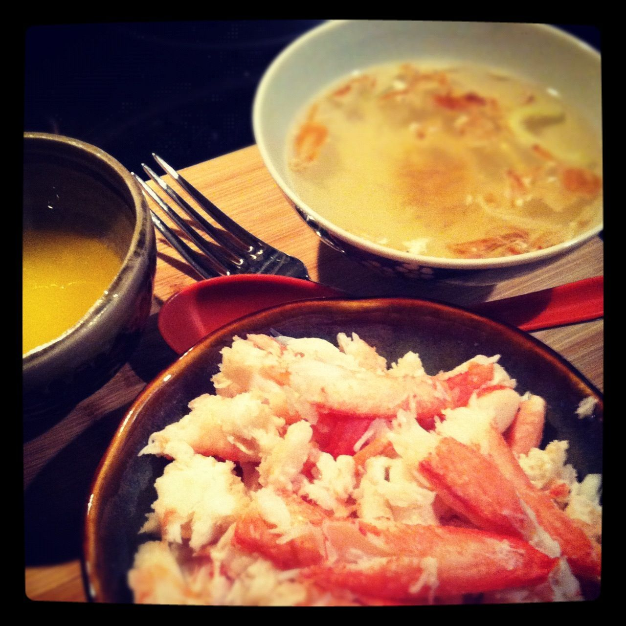 Friday night dinner:  snow crab leg with chicken broth   I got the snow crab leg...,  #broth ... #fridaynightdinner