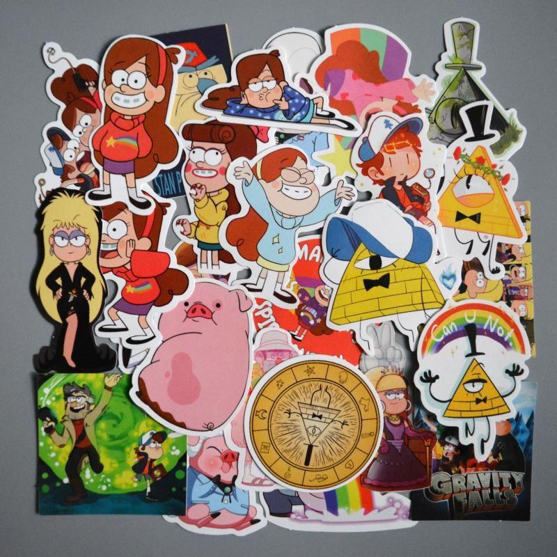 25pcs Lot Cartoon Gravity Falls Cool Graffiti Sticker For Luggage