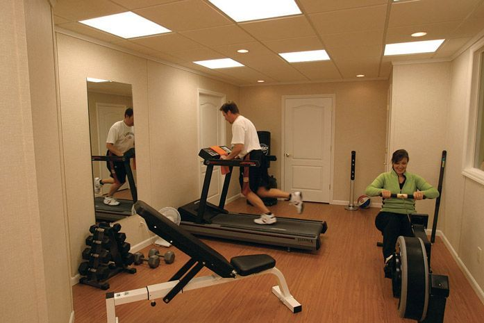 home gym with the total basement finishing system basementfinishing rh in pinterest com Owens Corning Wall Panels Basement Wall Systems