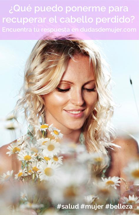 ¿Qué puedo ponerme para recuperar el cabello perdido? http://www.dudasdemujer.com/pregunta/527-que-puedo-ponerme-para-recuperar-el-cabello-perdido  #salud #mujer #belleza #cabello