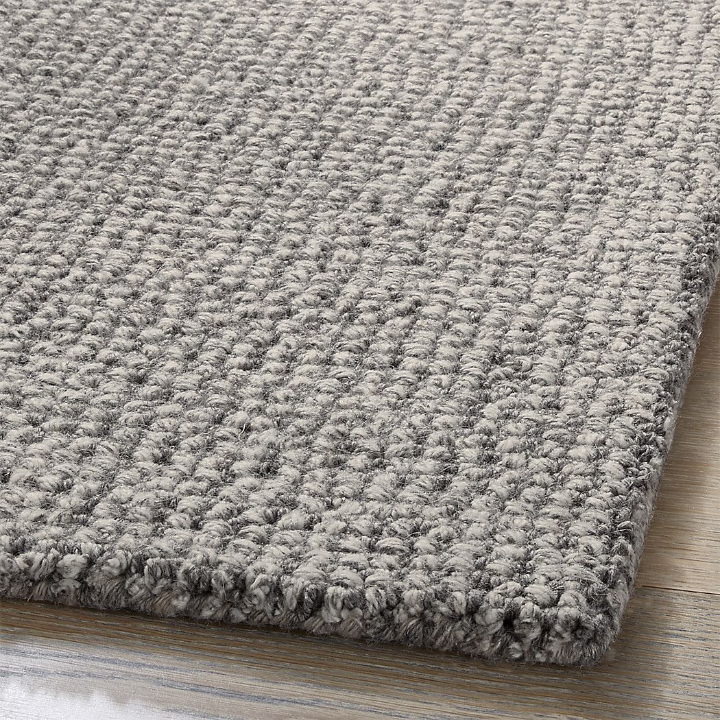 Shop Popcorn Grey Wool Blend Rug Handloomed With A Uniform Loop Pile This Dark Grey Rug Adds A Layer Of Textured Elegance In Any Types Of Carpet Rugs Carpet