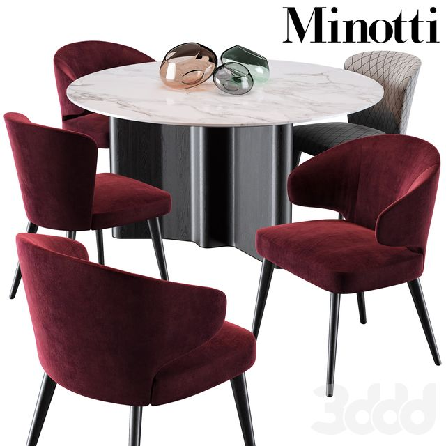 Minotti Aston Dining Chair Lou Table 3 Brilliant Room And Bar