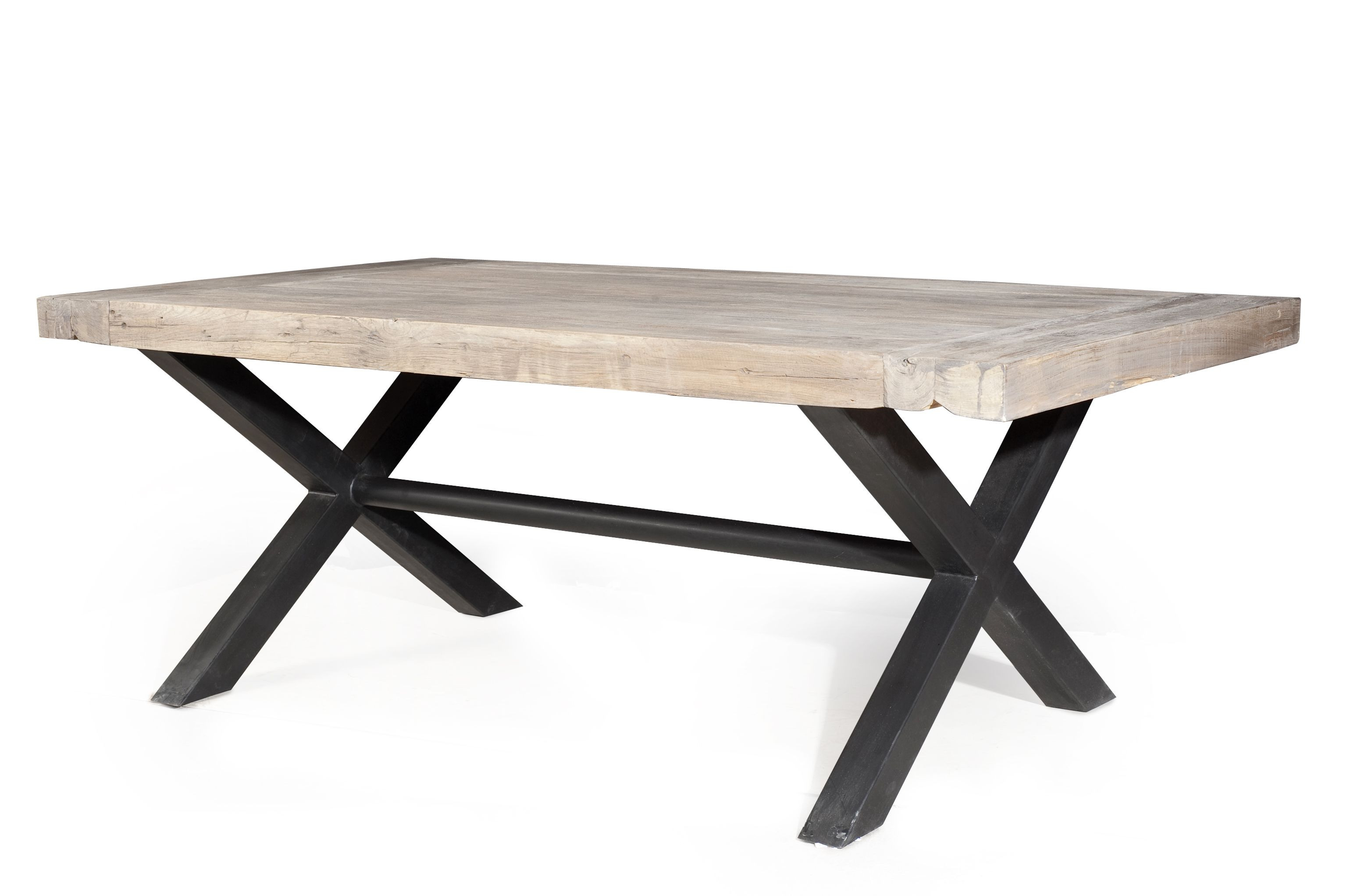 Comparatif table a manger fer forge et bois maison for Table bois pied fer forge