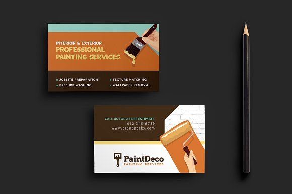 Painter Decorator Business Card Decorator Business Card Free Printable Business Cards Painter Business Card