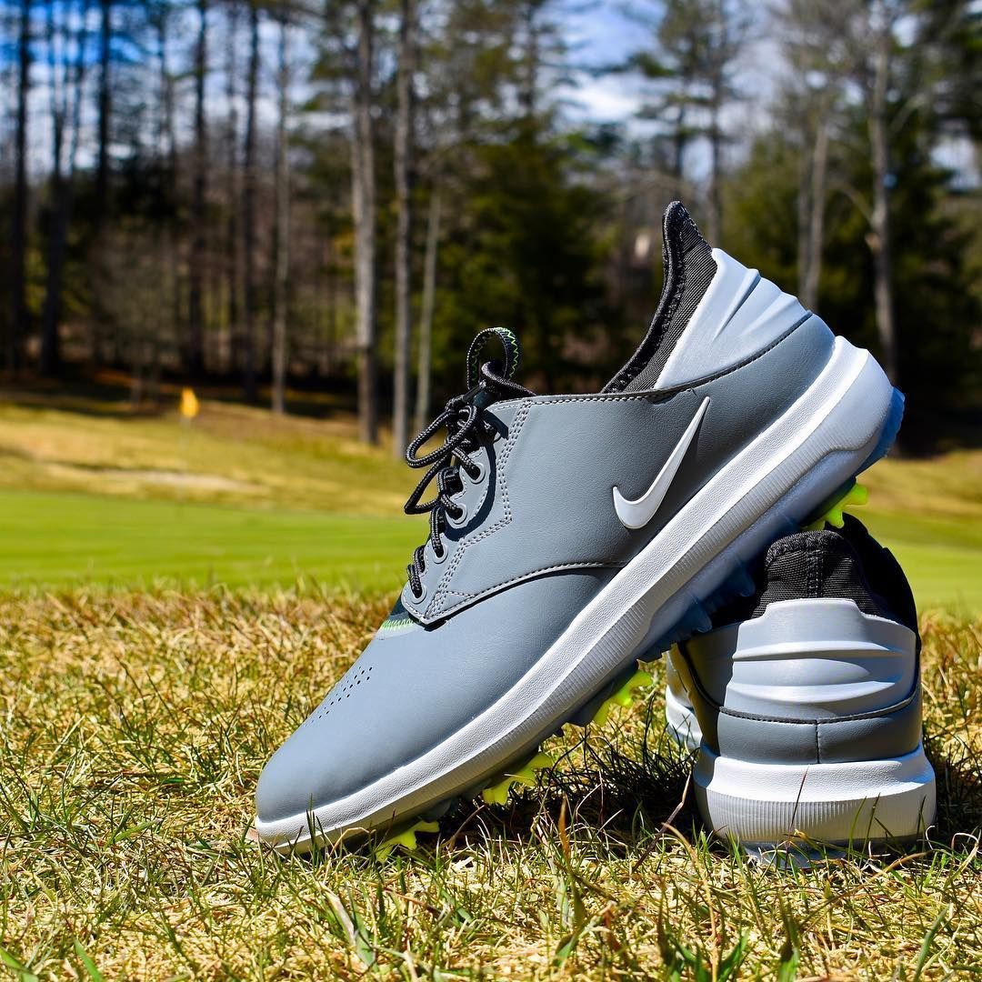 196ab52bde75 The Nike Air Zoom Direct golf shoes in Cool Grey Anthracite and Volt   DirectGolf