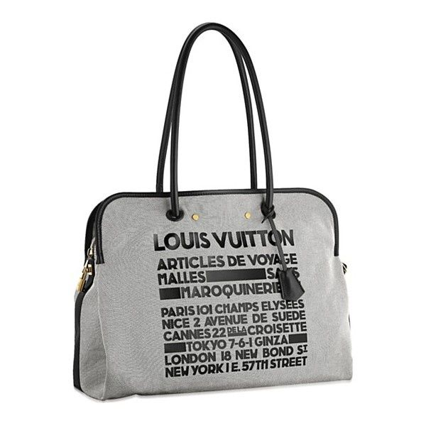 Louis Vuitton Travel Shopper Traveller ($1,300) found on Polyvore #bags #fashion