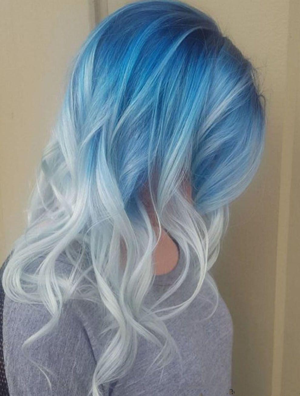 Цвет голубой это какой цвет волос