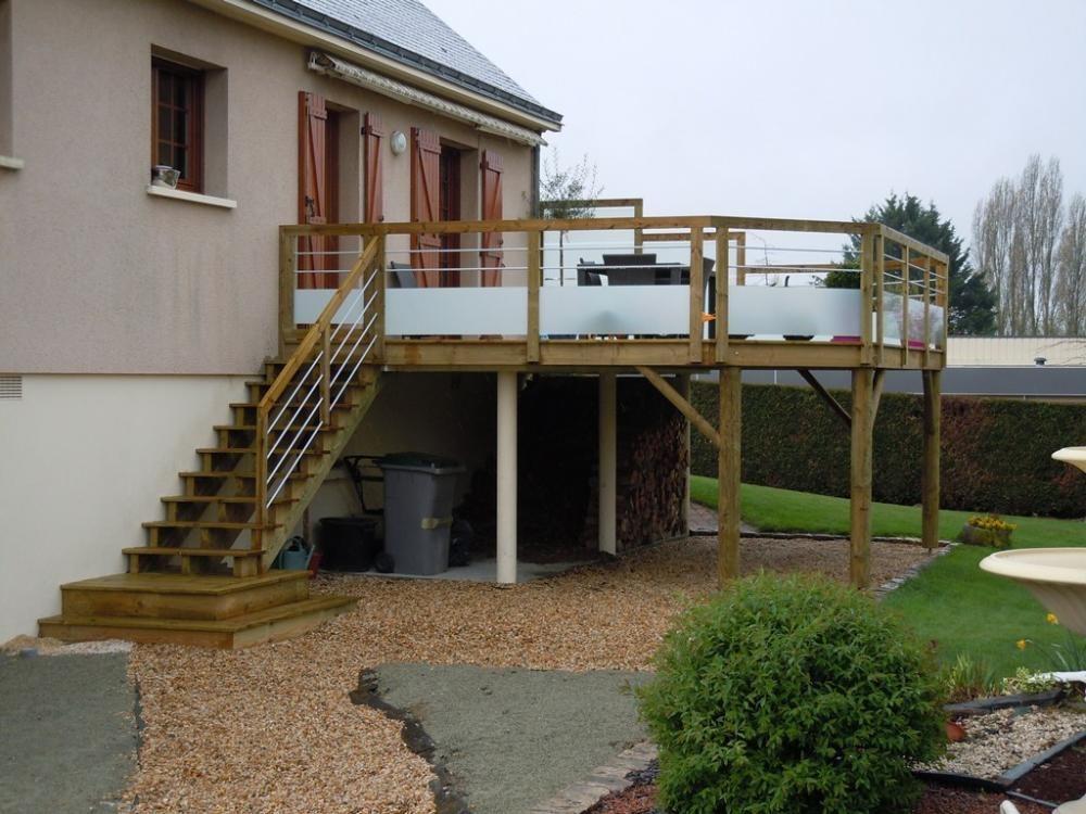 Plan pour terrasse en bois sur pilotis 02 deco maison design deco
