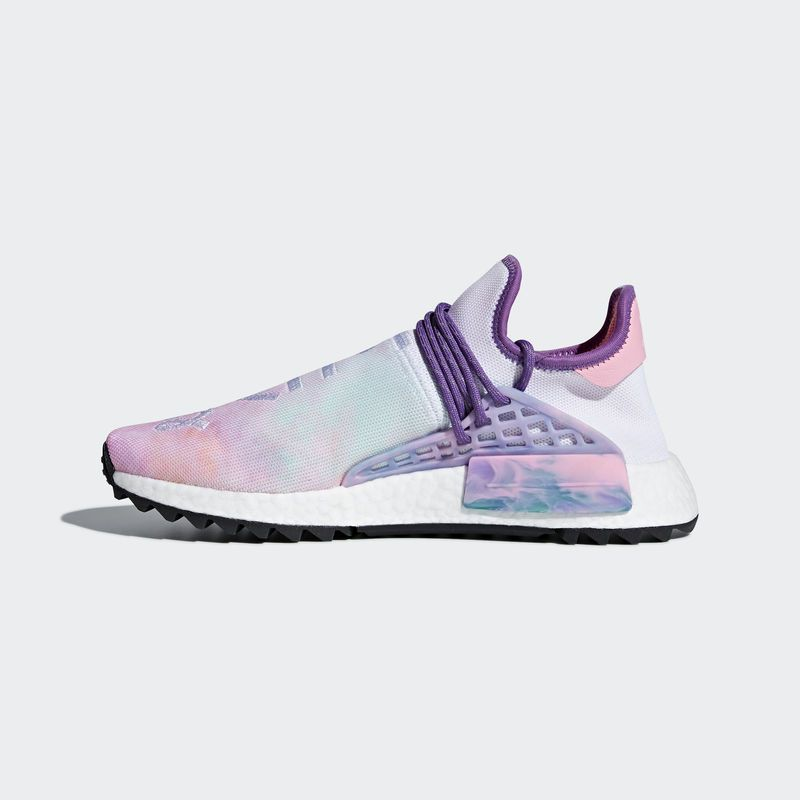 pretty nice 794f5 5f75a 2019 的 Pharrell Williams x adidas NMD Hu Trail Holi Pink Glow 主题 ...