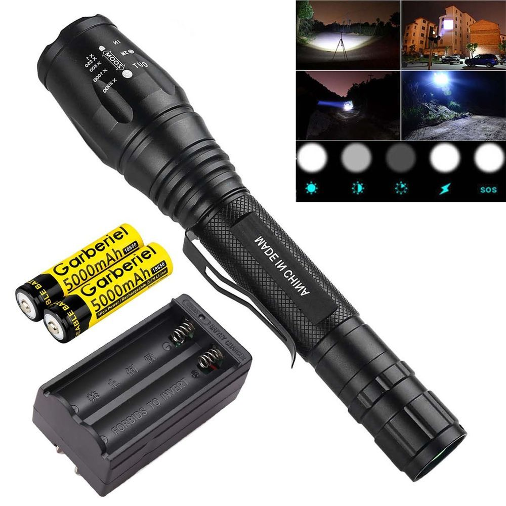 Ultrafire 20000 Lumens T6 Led Zoomable 18650 Flashlight Torch Super Bright Light Flashlights Flashlight Flashlights 4 99 0 Bi Flashlights In 2019