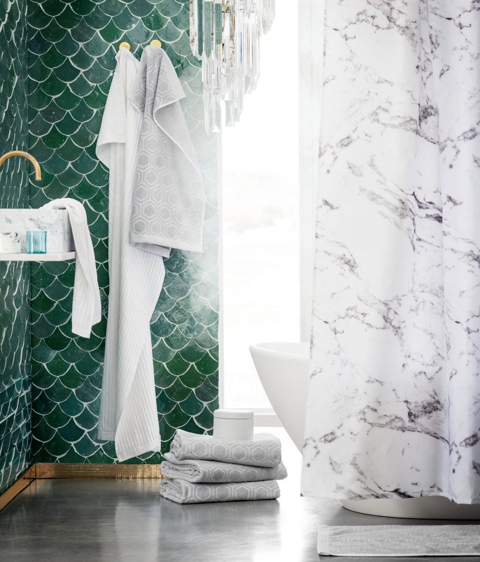 Badkamer Accessoires H&m I Like All The Things In Here Towels Mermaid Tiles Shower