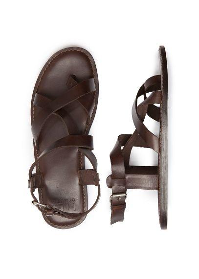 Sandales /à lani/ères crois/ées pour Homme