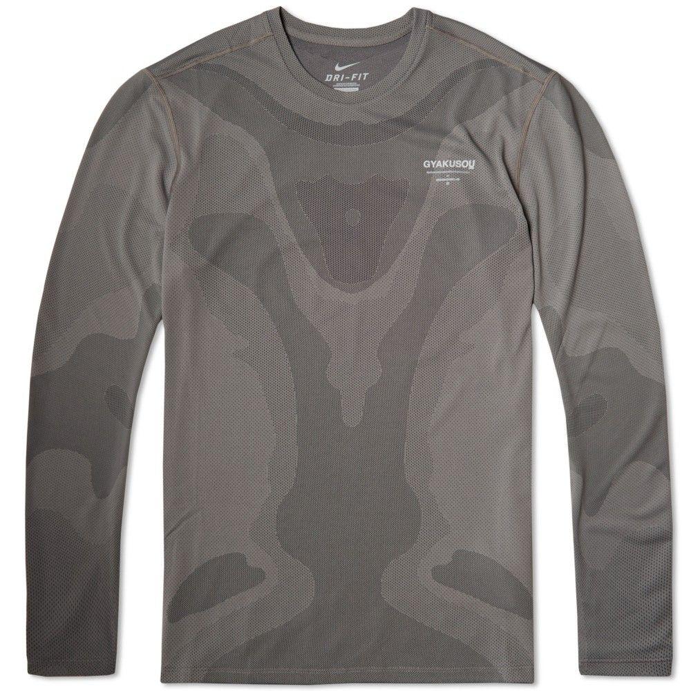 Nike x Undercover Gyakusou Long Sleeve Dri-Fit Sweat Map Top: Dark Pewter