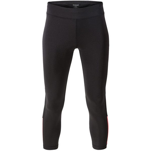 Slimming Effect Capri Leggings ($39) ❤ liked on Polyvore featuring activewear and activewear pants