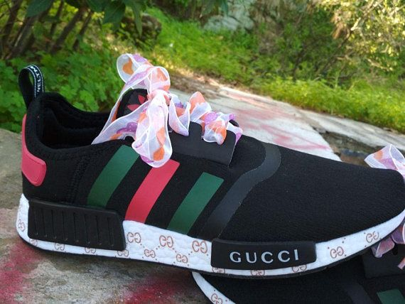 custom paint womens adidas nmd casual shoes gucci style
