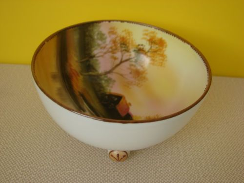 Details About Noritake Hand Painted Small Footed Nut Berry