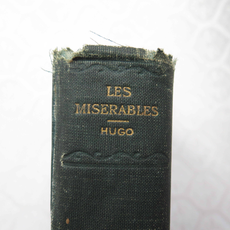 Les miserables victor hugo antique cloth edition circa
