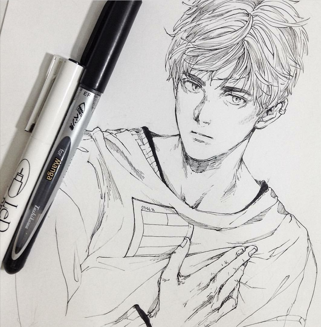 Pin By Ruby On Guys Anime Drawings Sketches Realistic Drawings Anime Drawings Boy