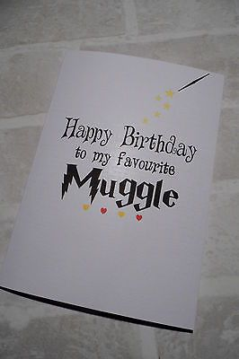 Personalised Birthday Card Best Friend Boyfriend Girlfriend Harry Potter