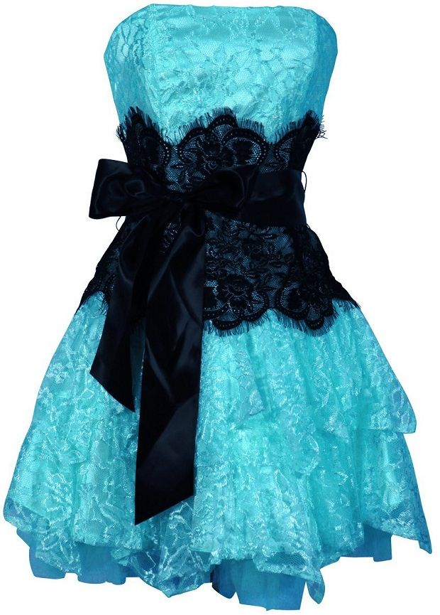 Black Prom Dresses | black and blue short prom lace dresses 2013 ...