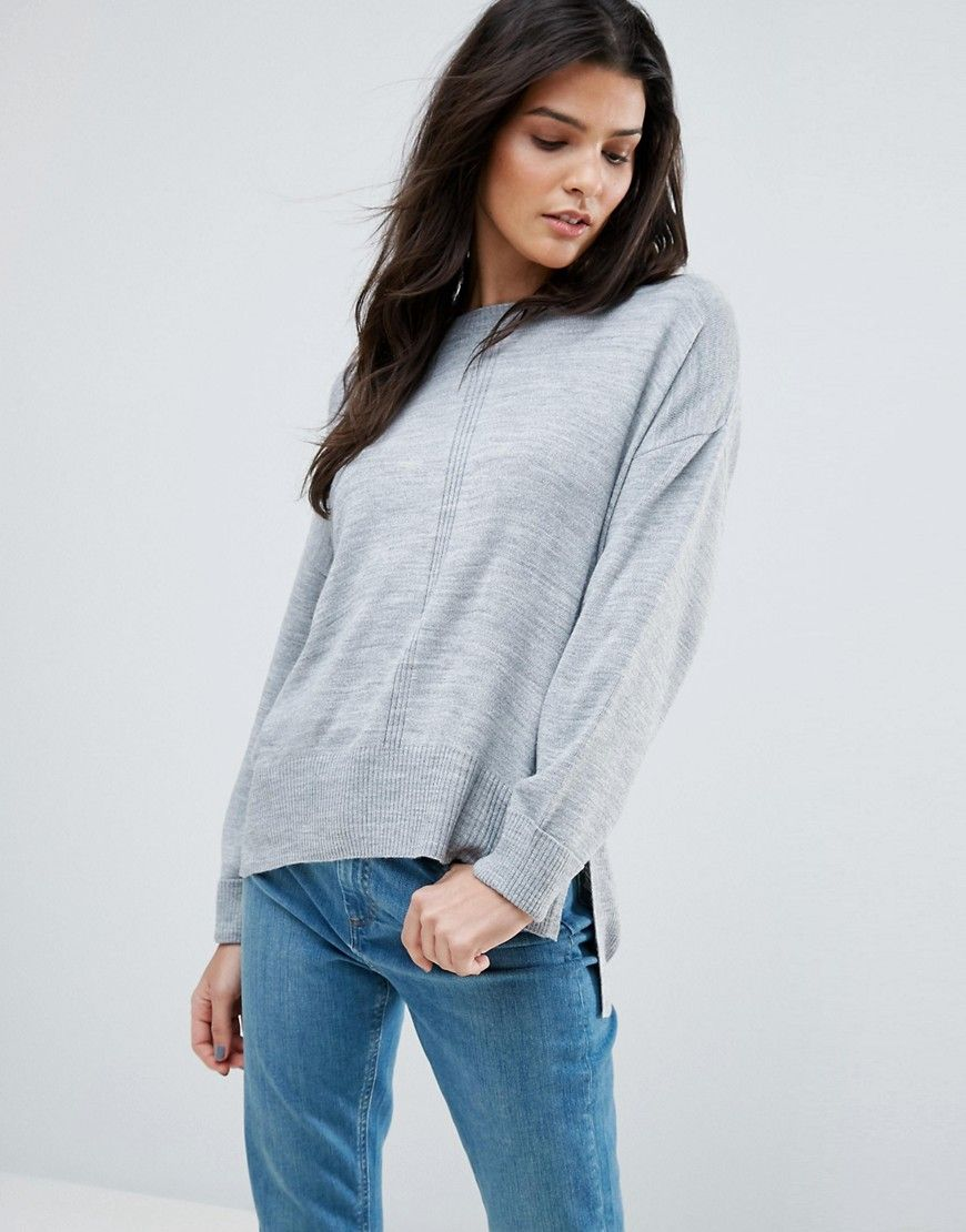 ASOS Boyfriend Jumper In Oversized Fit - Grey  Jumper by ASOS Collection 95bb9952d