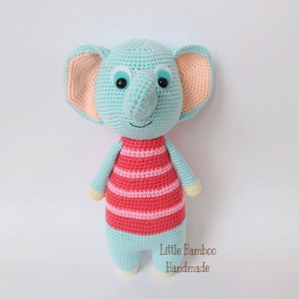 Blue Elephant Amigurumi Pattern | Игрушки | Pinterest