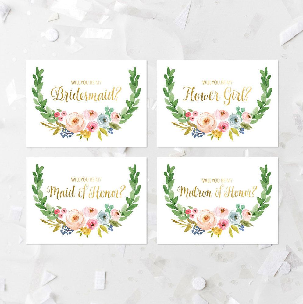 Will You Be My Invite Printable Bridesmaid Invitation Will