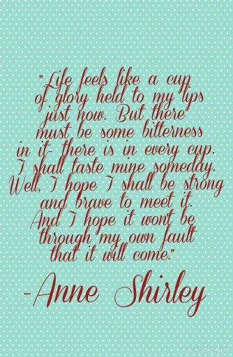 Quotes Anne Of Green Gables Anne Shirley Lm Montgomery With