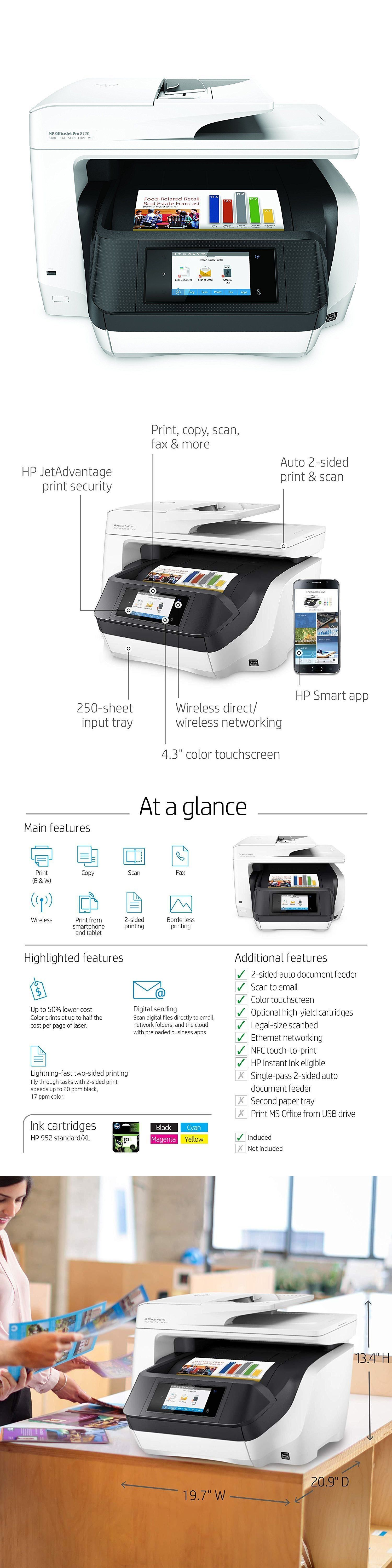 Printers 1245: Hp Officejet Pro 8720 All-In-One Color Wireless