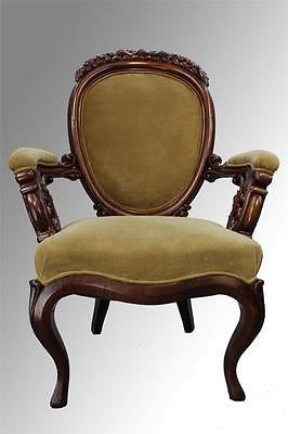 Gentlemans Chair Top Rated Pedicure Chairs Antique Civil War Era Carved Gentleman S Ebay Vintage