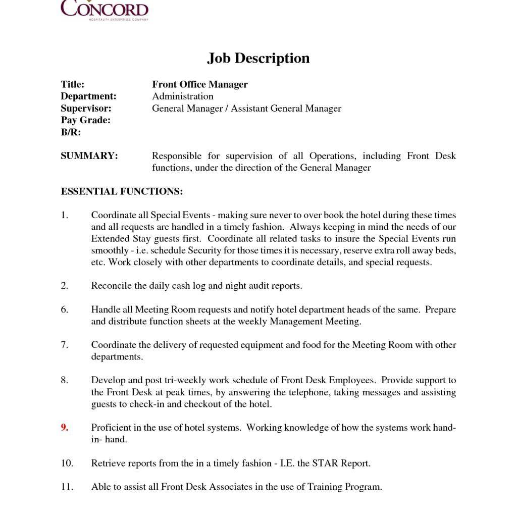 Front Desk Dental Office Job Description Office Job Job Description Dental Office