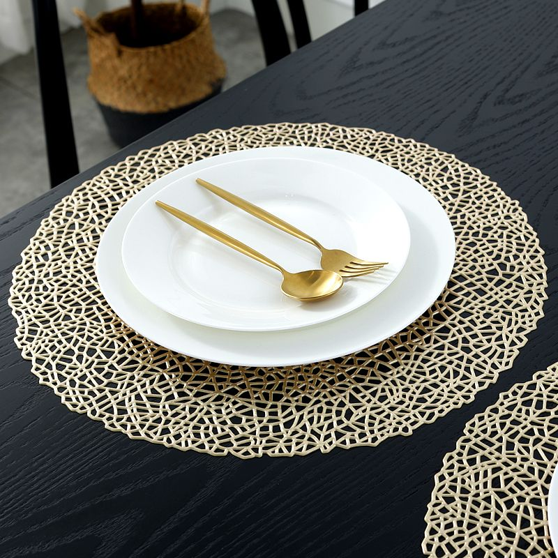 Gold Round Placemats Gold Coloured Vinyl Table Mats Manufacturer Sale Coloring Placemats Gold Placemats Placemats