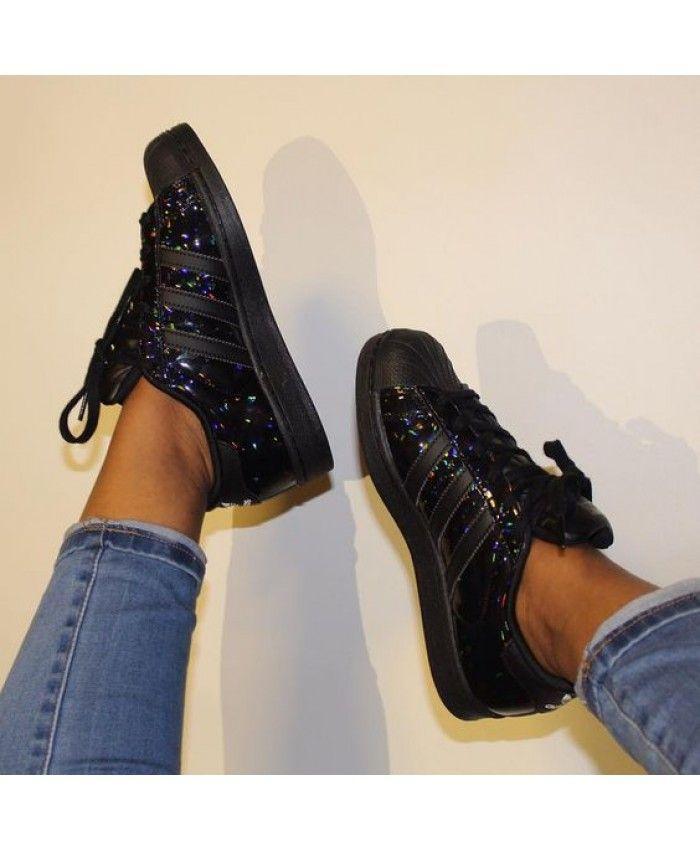 Zapatillas adidas superstar adidas superstar holographic negro