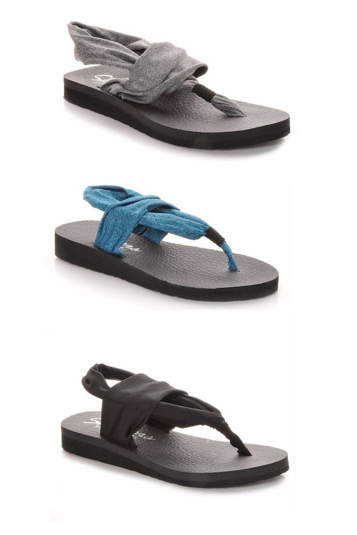 skechers yoga mat shoes. yoga for your toes. these skechers thong sandals feature a foam cushioned comfort footbed mat shoes r