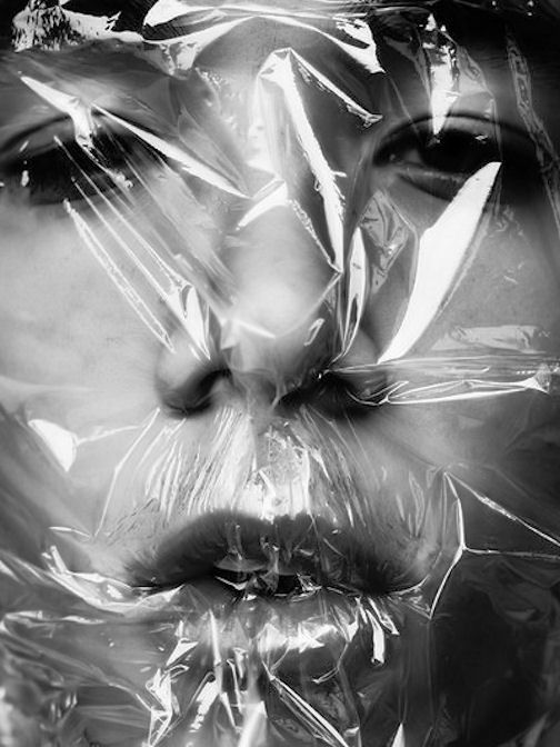 Plastic Wrapped Face Other Artists In 2019 Mirror Photography