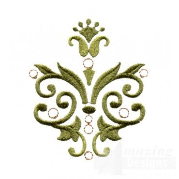 Baroque Swirls And Butterflies Embroidery Design Collection Simple