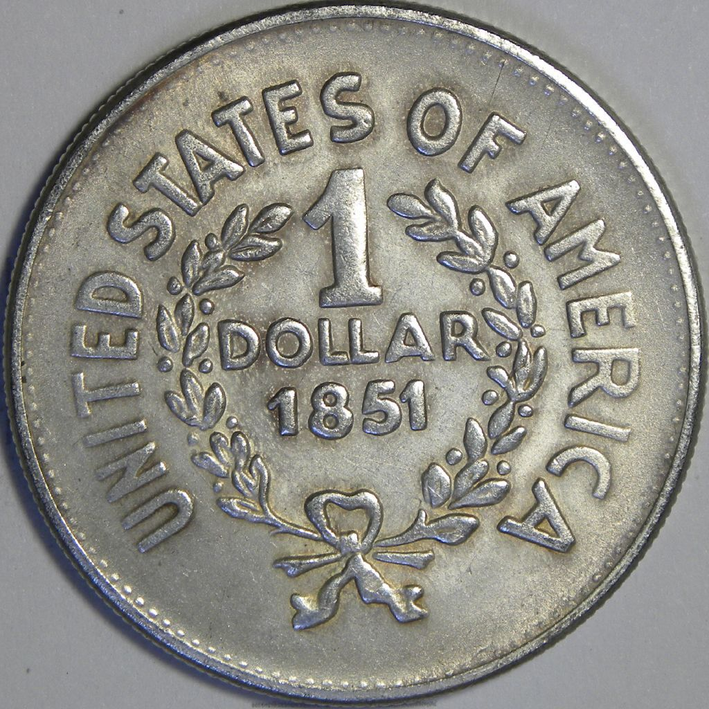 Indian Silver 1851 Head Dollar Cf S 1 0001