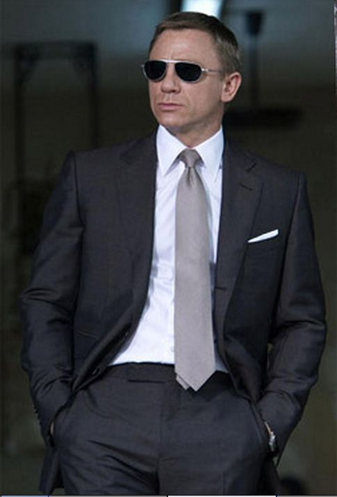 e130d42d5f6 Dark Grey Two Piece Suit Inspired By Suit Worn In James Bond ...