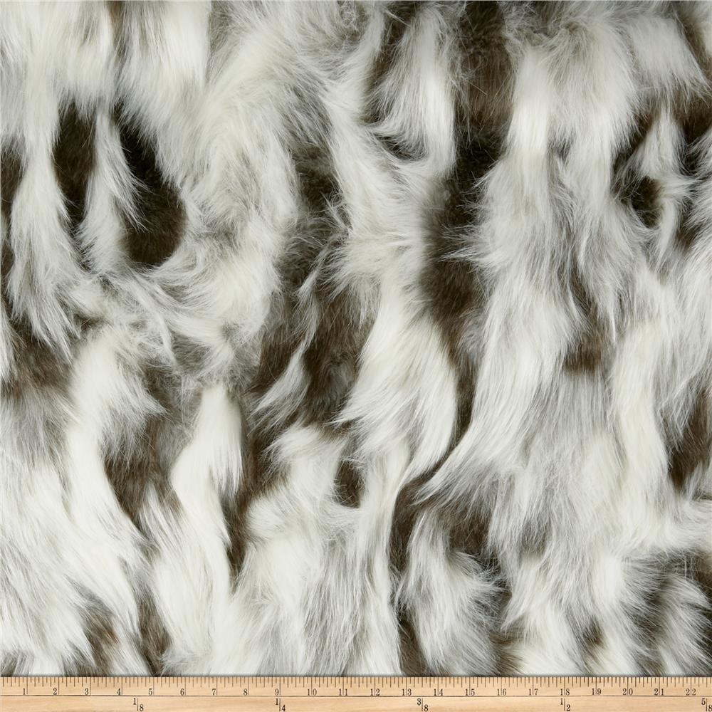 Super Luxury Faux Fur Fabric Material SUPERIOR LONG PILE BEIGE