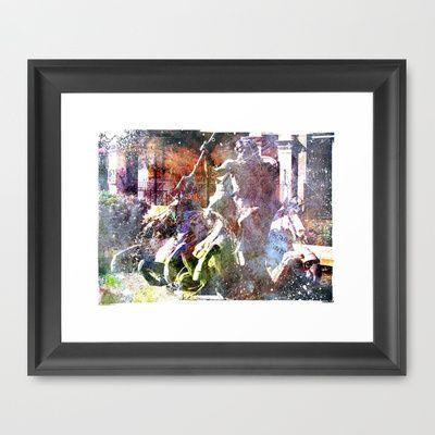 Neptune Framed Art Print by Angelandspot - $31.00