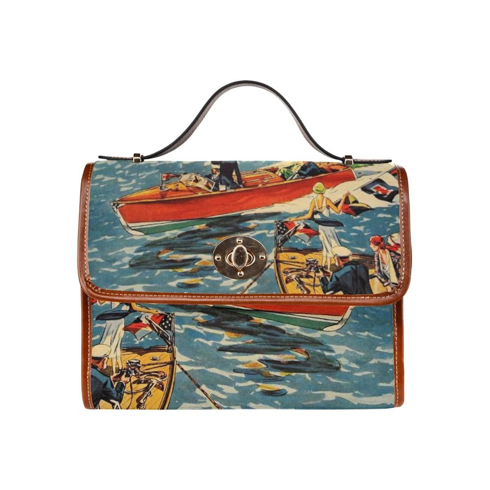 1930 Runabout Advertisement by Retro Boater Waterproof Canvas Bag (All Over Print) (Model1641)
