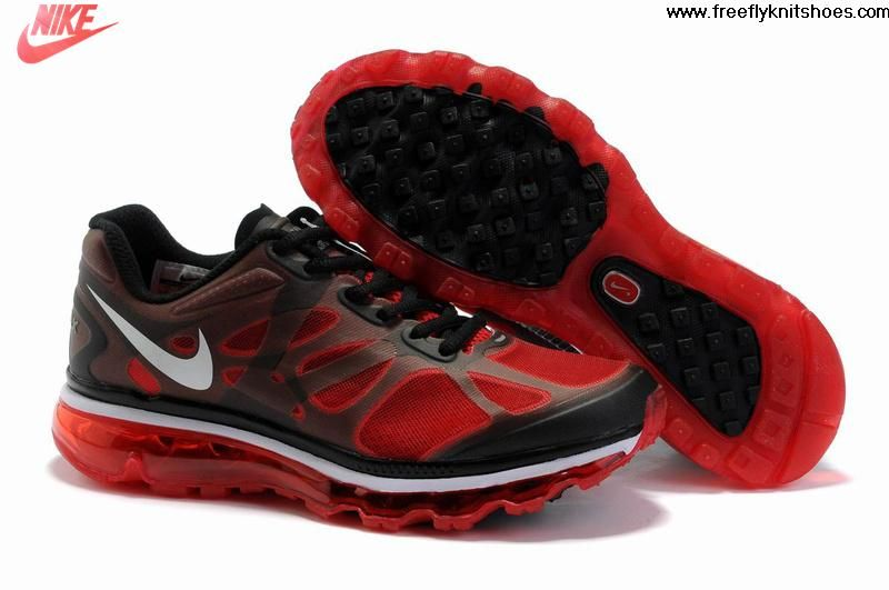 Fashion Womens Nike Air Max 2012 Action Red Black Dark Grey Shoes Sports  Shoes Shop