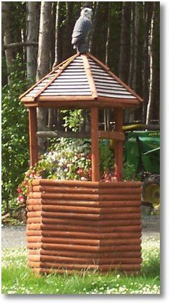 Simple Hexagon Wishing Well Made From Round Sticks Ewishingwell Loves Wishing Well Pictures Diy Wishing Wells Backyard Inspiration Well Pictures
