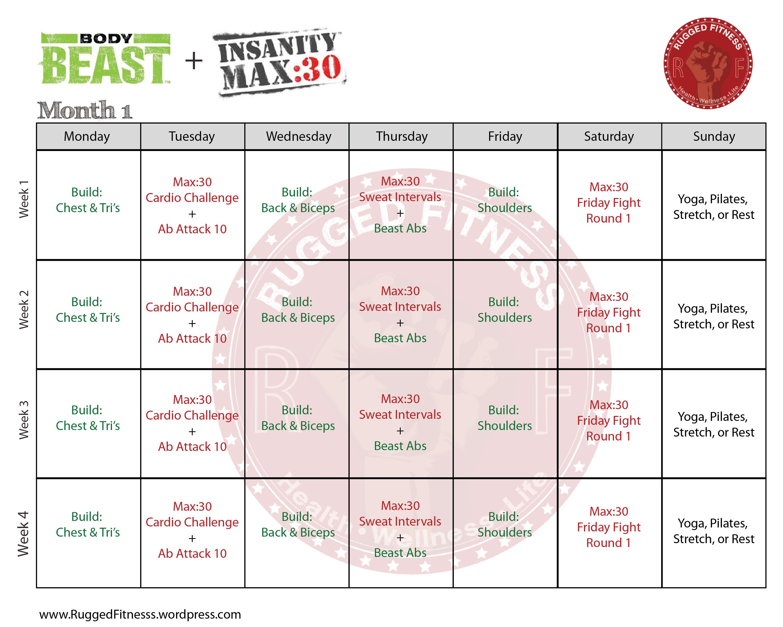 Body Beast Workout Schedule Huge