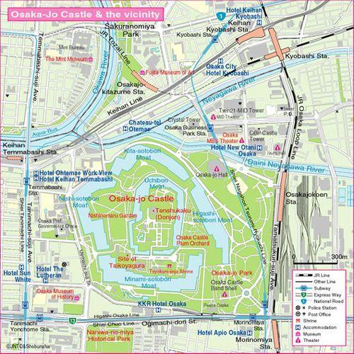 Osaka Map | Japan Kansai | Pinterest | Osaka, Japan and ...