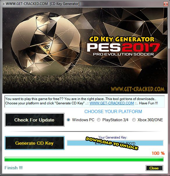 pes 2017 key activation