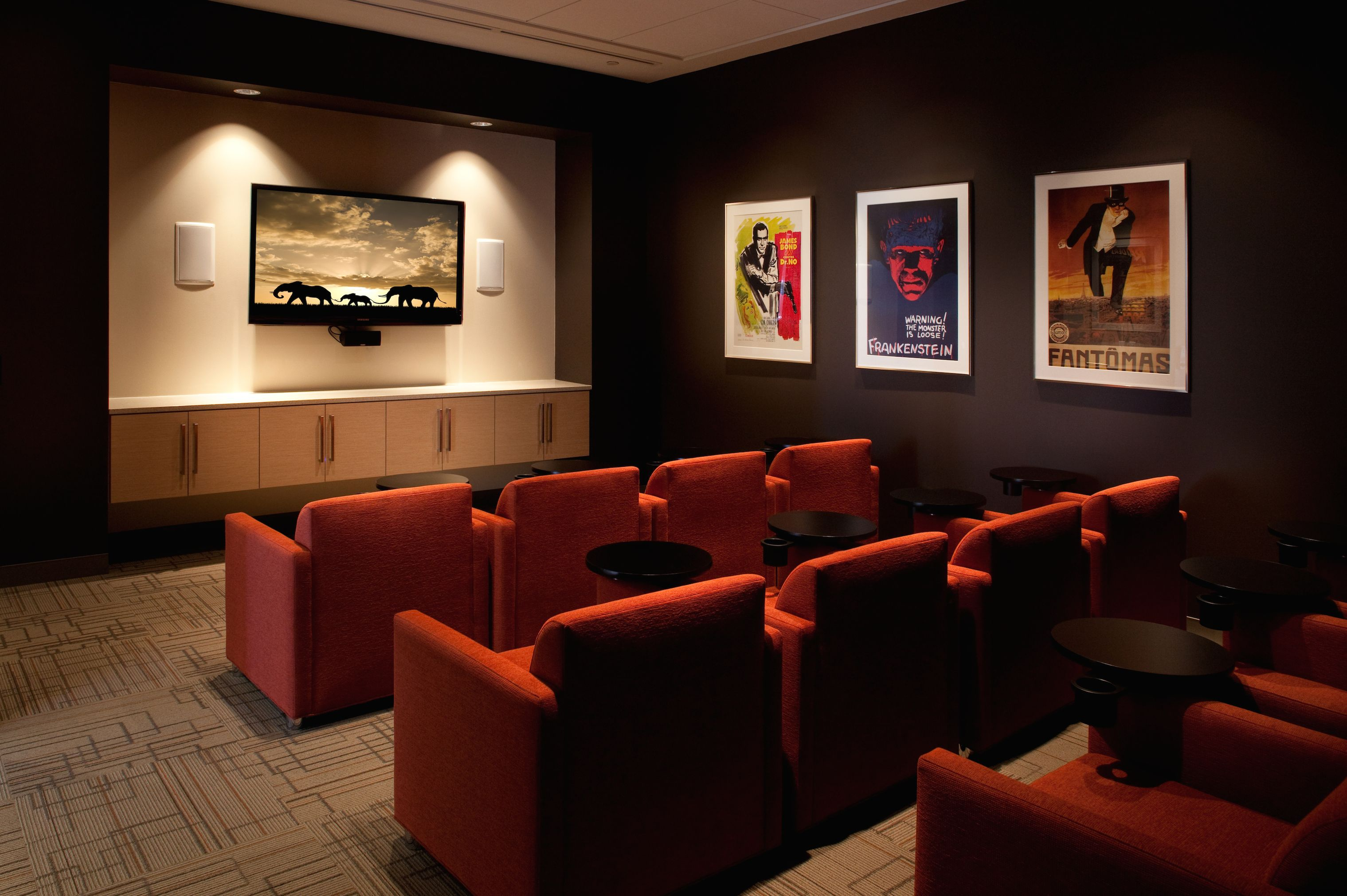 Private resident screening room at Station Landing & 75 SL ...