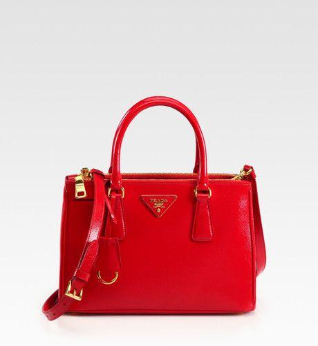Prada Red Saffiano Vernice Tote Bag Red Prada Bag Bags Prada Bag