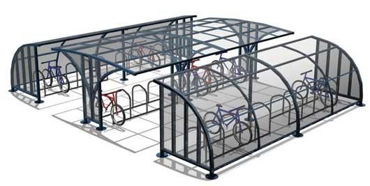 Velodome Offers Both Galvanized Steel And Flexible Plastic